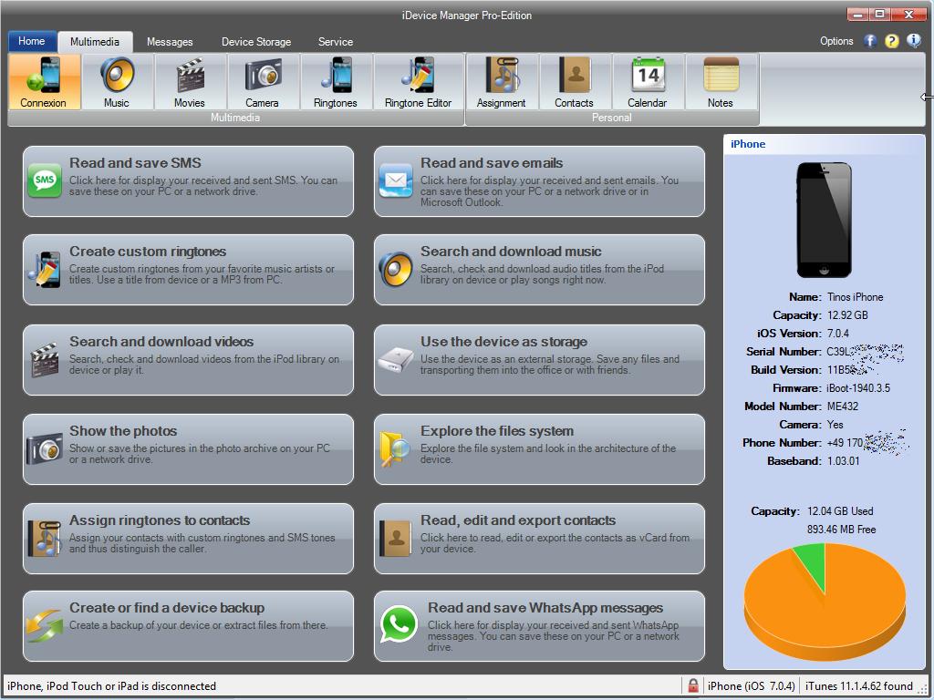 iDevice Manager (former iPhone Explorer) - Download - Software4u
